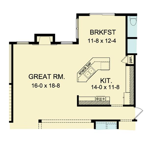 Ranch Floor Plan - Main Floor Plan Plan #1010-34