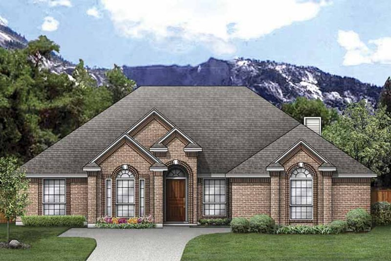 House Plan Design - Traditional Exterior - Front Elevation Plan #84-770