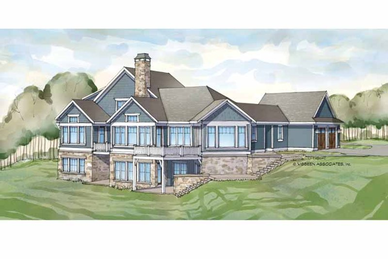 Traditional Exterior - Rear Elevation Plan #928-236 - Houseplans.com