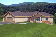 Traditional Exterior - Front Elevation Plan #1037-19