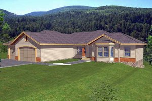 Home Plan - Traditional Exterior - Front Elevation Plan #1037-19