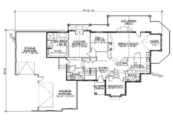 House Plan Design - European Floor Plan - Main Floor Plan #5-365