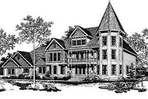 Victorian Exterior - Front Elevation Plan #72-372