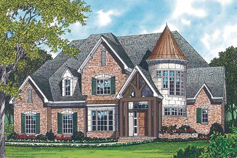 House Plan Design - Country Exterior - Front Elevation Plan #453-234
