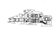 Mediterranean Exterior - Rear Elevation Plan #472-316
