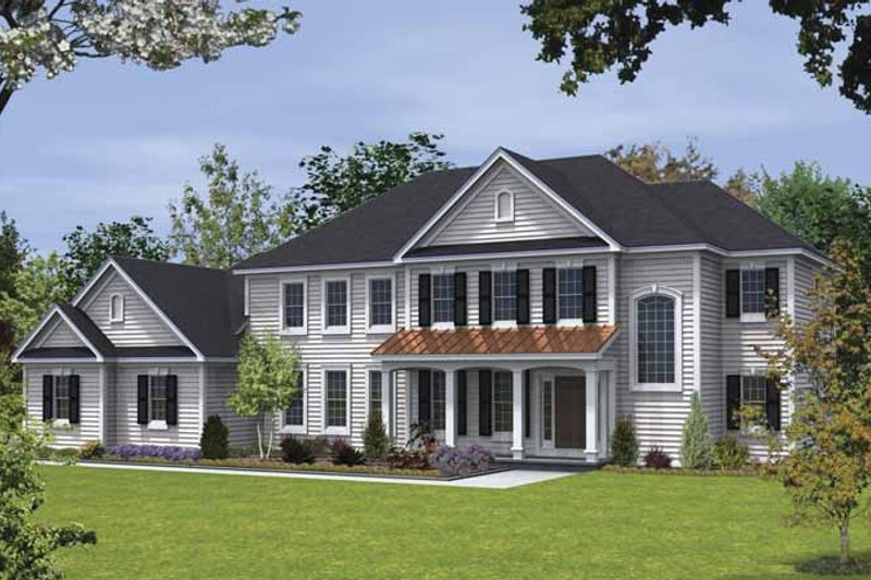 Country Exterior - Front Elevation Plan #328-441 - Houseplans.com