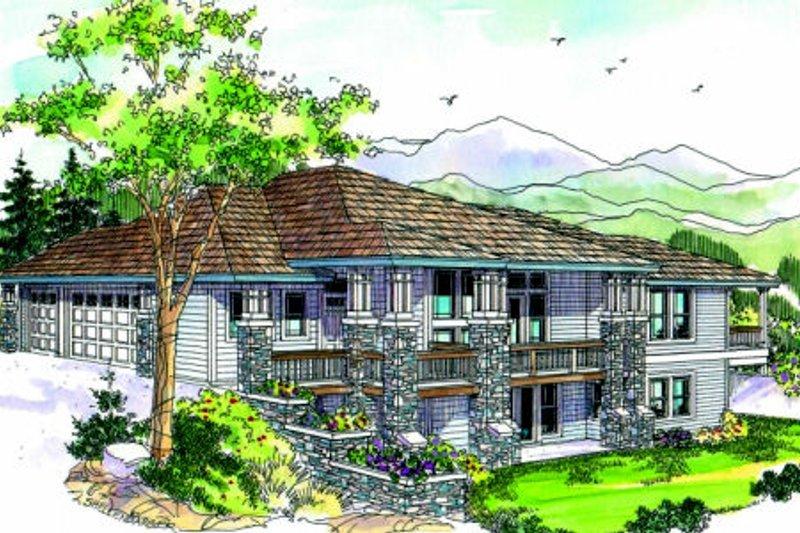 Craftsman Exterior - Front Elevation Plan #124-687