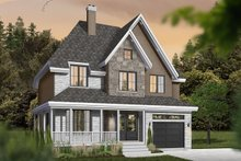 Home Plan - Farmhouse Exterior - Front Elevation Plan #23-864