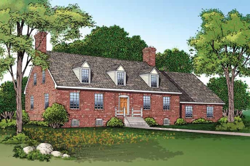 House Blueprint - Classical Exterior - Front Elevation Plan #72-696