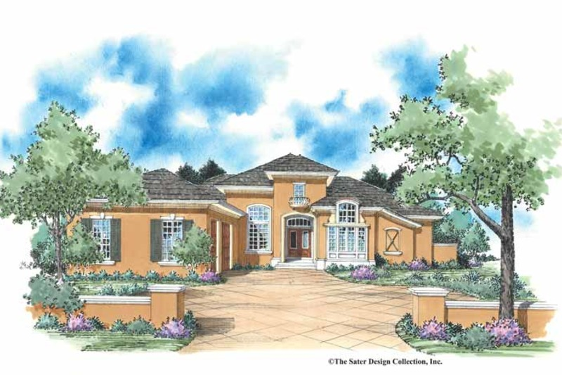 Mediterranean Exterior - Front Elevation Plan #930-346