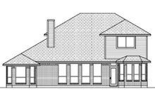 European Exterior - Rear Elevation Plan #84-462