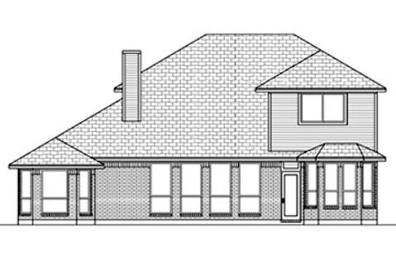 European Exterior - Rear Elevation Plan #84-462 - Houseplans.com