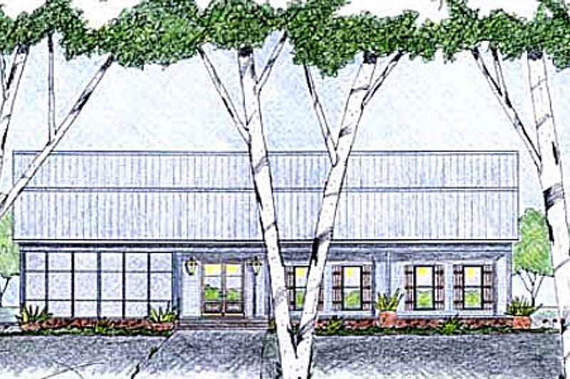 Modern Exterior - Front Elevation Plan #36-495