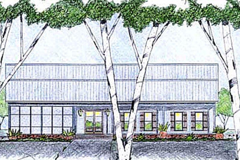 Modern Exterior - Front Elevation Plan #36-495