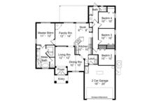 Mediterranean Floor Plan - Main Floor Plan Plan #417-822