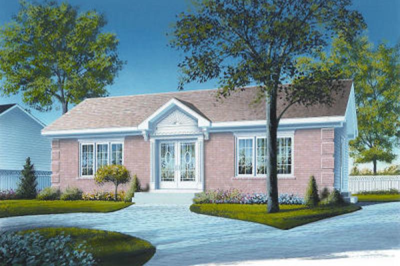 Cottage Exterior - Front Elevation Plan #23-691