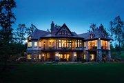 European Style House Plan - 4 Beds 4 Baths 4693 Sq/Ft Plan #929-892 Exterior - Rear Elevation