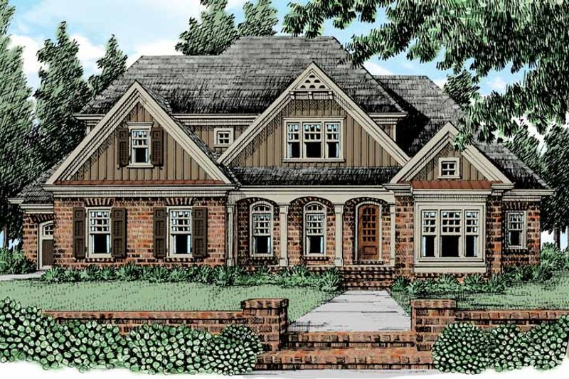 European Exterior - Front Elevation Plan #927-474