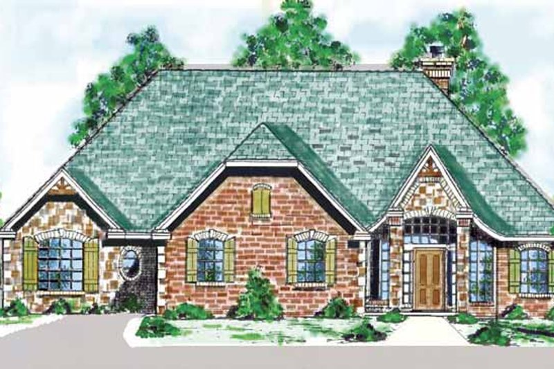 Country Exterior - Front Elevation Plan #52-278