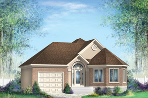 Classical Exterior - Front Elevation Plan #25-4821
