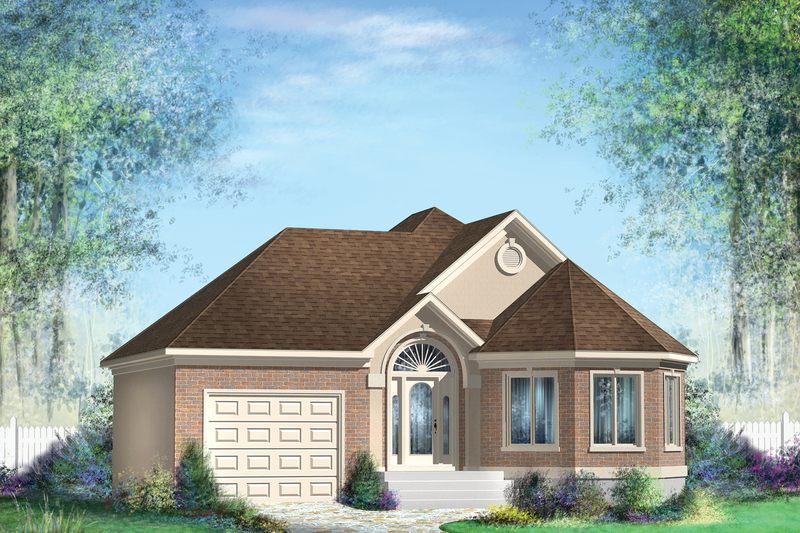 Classical Style House Plan - 2 Beds 1 Baths 1063 Sq/Ft Plan #25-4821 Exterior - Front Elevation