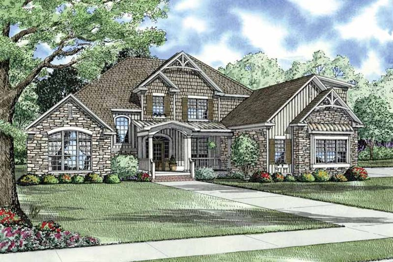 Craftsman Exterior - Front Elevation Plan #17-3045
