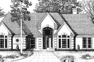 House Plan Design - Country Exterior - Front Elevation Plan #974-41
