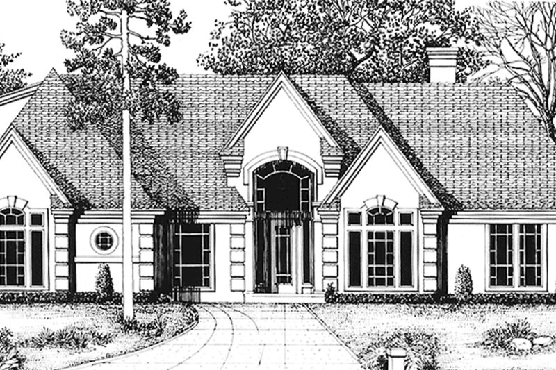 Country Exterior - Front Elevation Plan #974-41