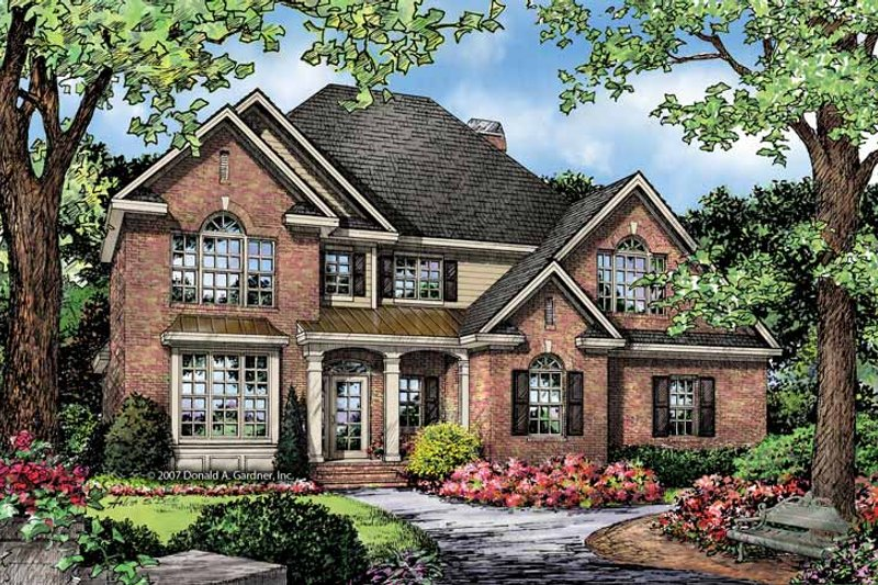 Architectural House Design - Traditional Exterior - Front Elevation Plan #929-842