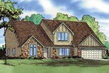 Tudor Exterior - Front Elevation Plan #405-287