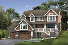 Craftsman Exterior - Front Elevation Plan #132-401