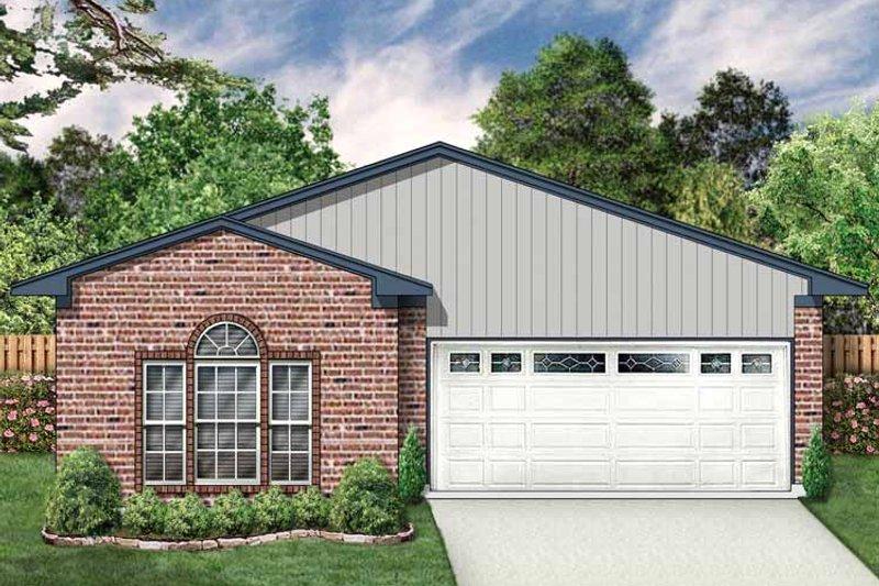 Ranch Exterior - Front Elevation Plan #84-662 - Houseplans.com