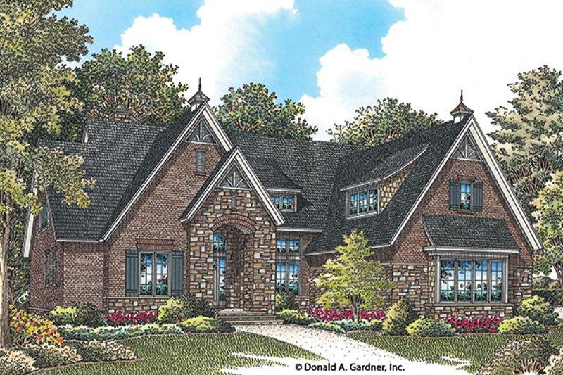 Architectural House Design - European Exterior - Front Elevation Plan #929-956