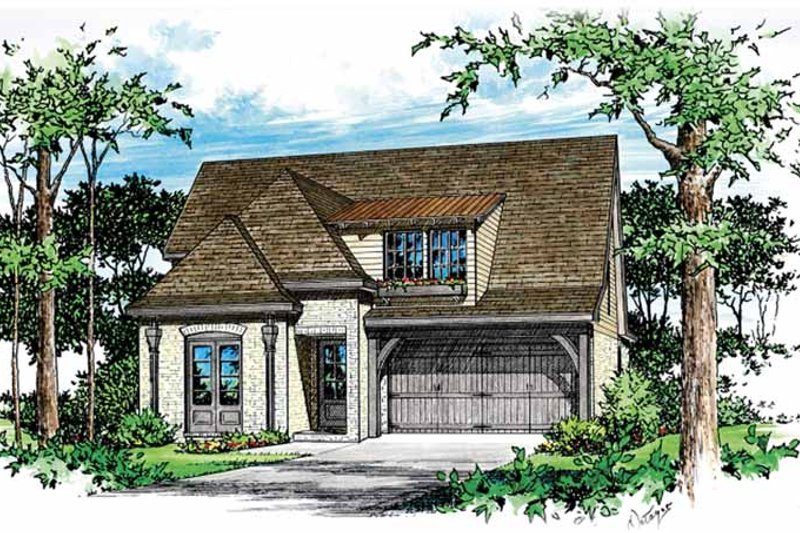 Country Exterior - Front Elevation Plan #15-391