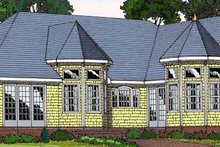 House Plan Design - Country Exterior - Rear Elevation Plan #456-89