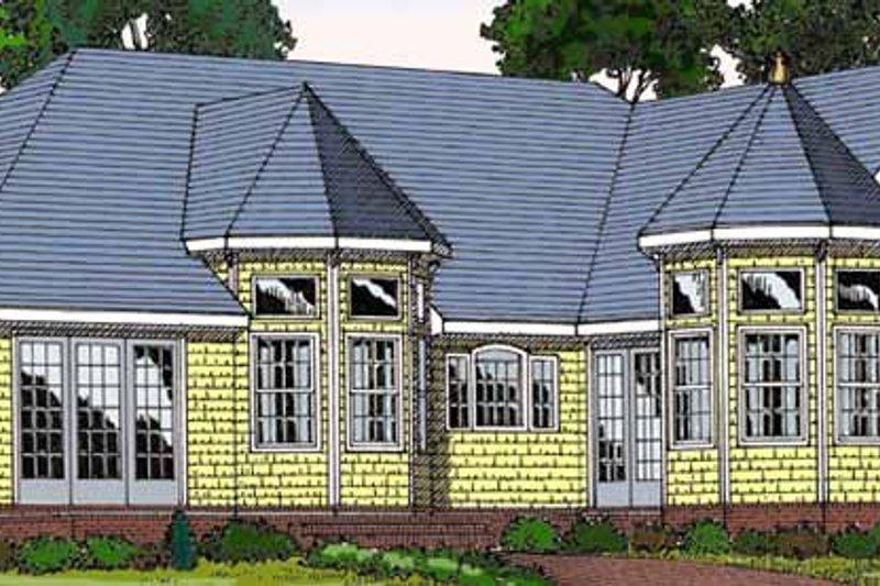 Country Exterior - Rear Elevation Plan #456-89 - Houseplans.com