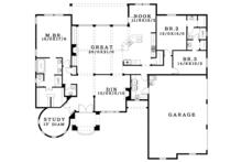 Tudor Floor Plan - Main Floor Plan Plan #943-44
