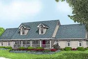 Country Style House Plan - 3 Beds 2.5 Baths 1954 Sq/Ft Plan #11-112 Exterior - Front Elevation