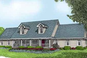 Country Exterior - Front Elevation Plan #11-112