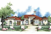 Mediterranean Style House Plan - 5 Beds 3.5 Baths 3993 Sq/Ft Plan #930-61 Exterior - Front Elevation