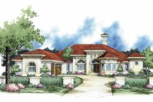 Home Plan - Mediterranean Exterior - Front Elevation Plan #930-61