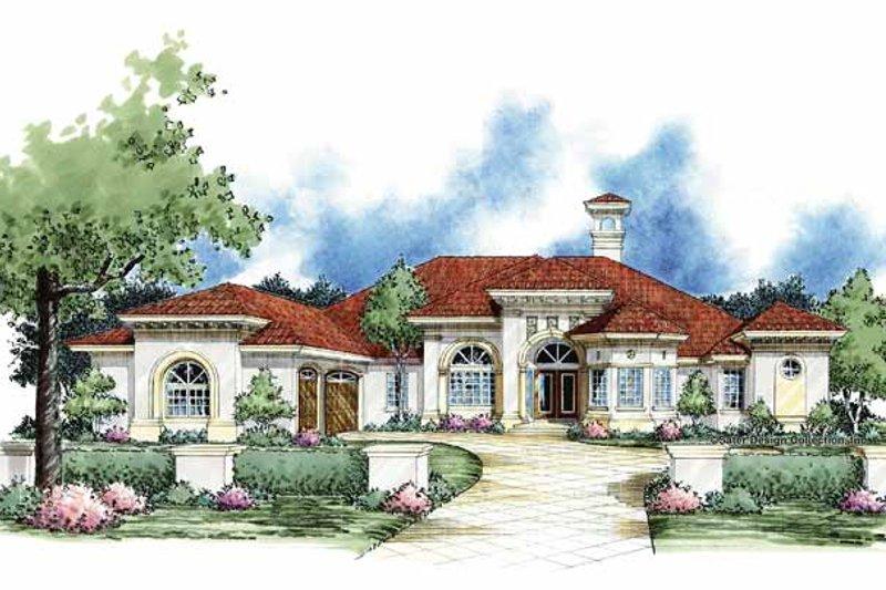 House Plan Design - Mediterranean Exterior - Front Elevation Plan #930-61