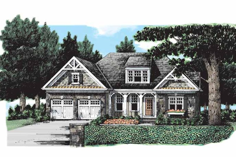 Craftsman Exterior - Front Elevation Plan #927-173