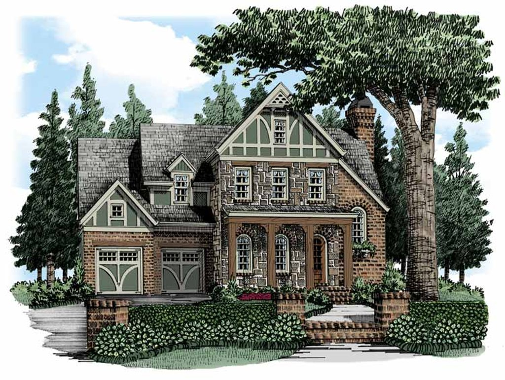 European style house plan 4 beds 4 baths 3204 sq ft plan for Www eplans com