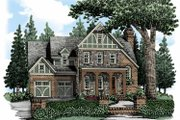 European Style House Plan - 4 Beds 4 Baths 3204 Sq/Ft Plan #927-484 Exterior - Front Elevation