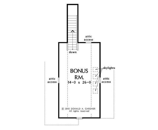Ranch Floor Plan - Other Floor Plan Plan #929-1004