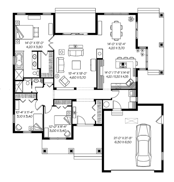 Traditional Floor Plan - Main Floor Plan Plan #23-2528