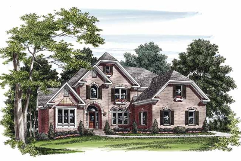 Country Exterior - Front Elevation Plan #927-498