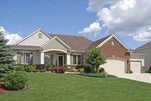 Dream House Plan - Prairie Exterior - Front Elevation Plan #320-995