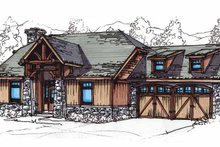Architectural House Design - Craftsman Exterior - Front Elevation Plan #17-2816